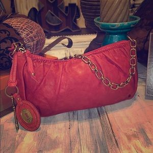 Authentic Fossil chain evening shoulder bag